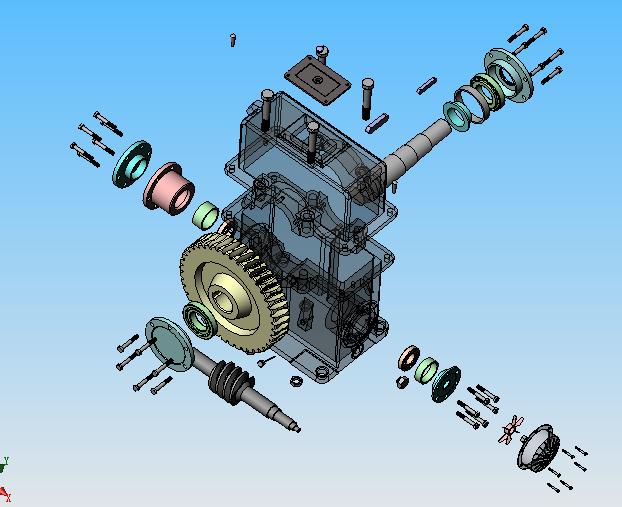 详细的sw蜗杆减速器机械设计