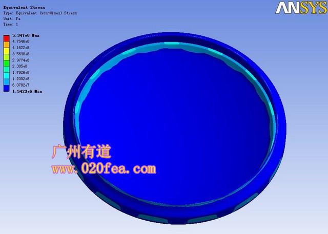 压力容器有限元分析 压力容器结构设计强度分析