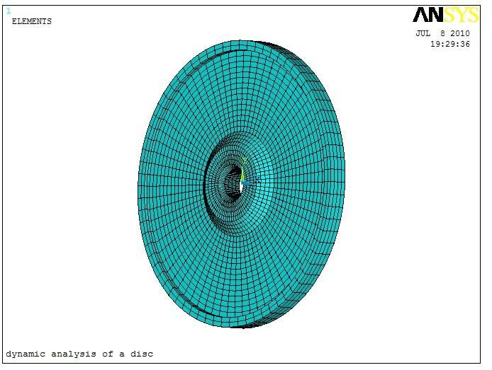 全面讲解ansys高速旋转轮盘模态分析讲解