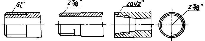 管螺纹画法_机械制图55度非密封管螺纹G1/2是什么意思-在机械制图中图纸上 ...