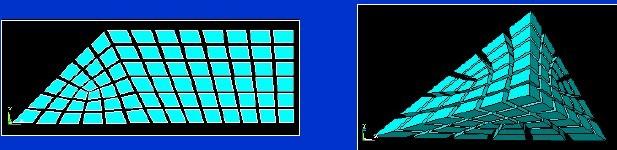 C. 改变网格 如果划分的网格不满意, 您总可以通过以下步骤重新划分网格: 1.清除网格. • clear操作网格划分的逆操作: 它将删除节点和单元. • 使用在MeshTool中得[Clear]按钮, 或使用VCLEAR, ACLEAR, 等. (若您在使用MeshTool, 您可以跳过这一步,因为程序将在执行第3步时提示您是否清除网格) 2.